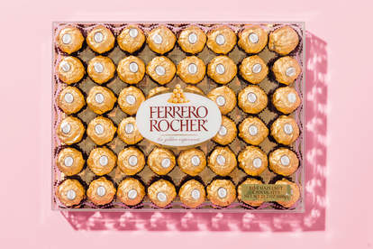 Ferraro Rocher adorned in pink