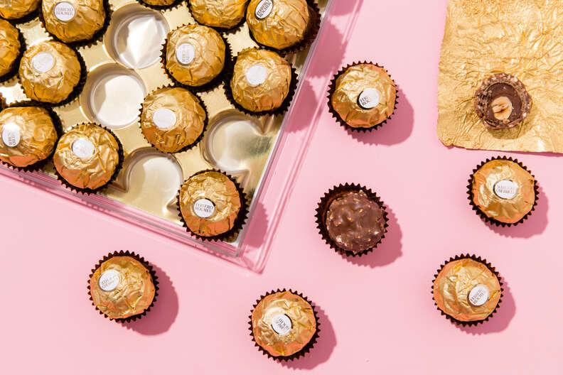 Unwrapped Ferrero Rocher