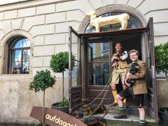 Dachshund Museum founders, Oliver Storz and Josef Küblbeck