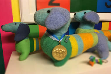 Toys of Waldi the mascot from the 1972 Munich Summer Games