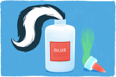 glue made from dead skunks
