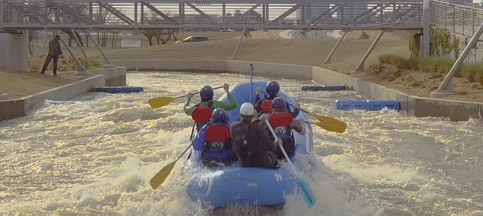 There's An Entire White Water Rafting Course Through Downtown OKC