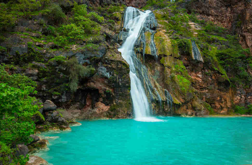waterfall teal and lush