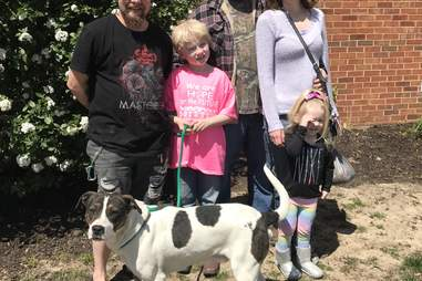 McCartney the dog with the Wizeman family