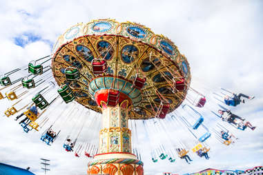 swings at point pleasant amusement park