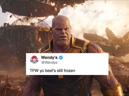 wendy's twitter savage disappearing avengers meme