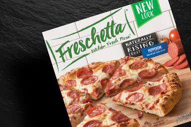 Freschetta pizza pepperoni frozen naturally rising crust cheese pizzas slice slices dinner lunch