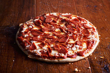 Screamin' Sicilian holy pepperoni frozen pizza cheese pizzas cheesy cheeses crust slice slices