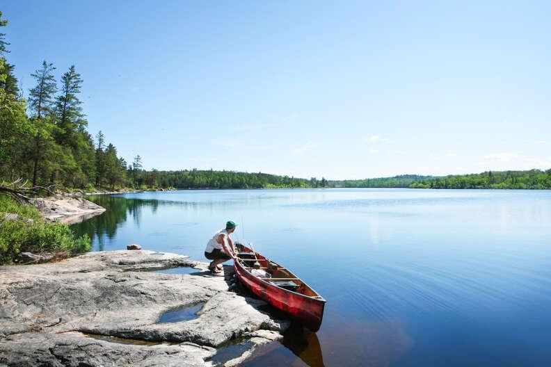 Fishing on Wilderness Lake