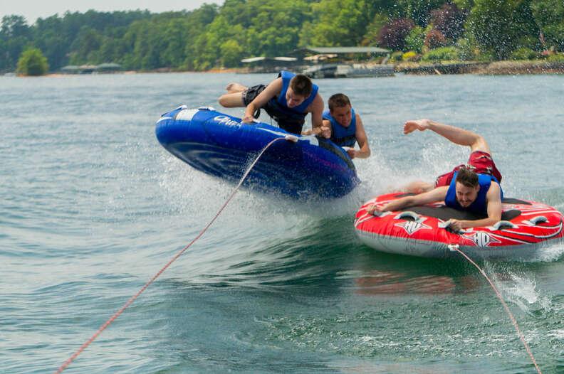 Tubing on Lake Seneca