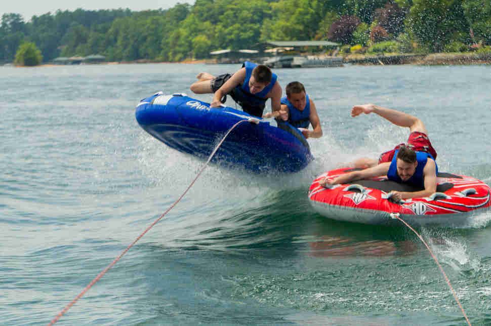 Tubing on Lake Seneca
