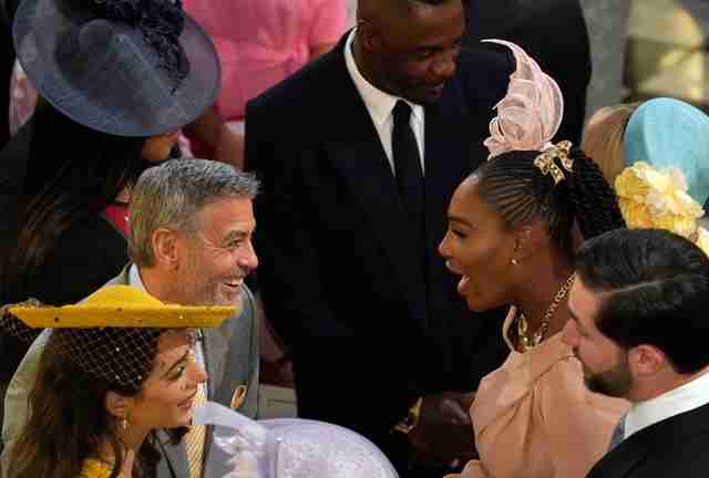 george clooney, serena williams, royal wedding