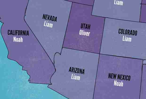 These Are the Most Popular Baby Names in Every US State