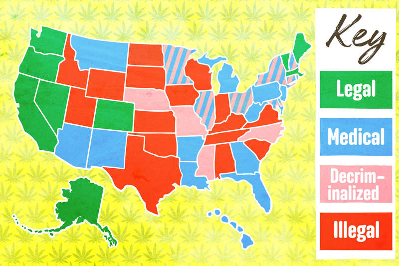 What States Have Legalized Weed The Laws In All 50 States