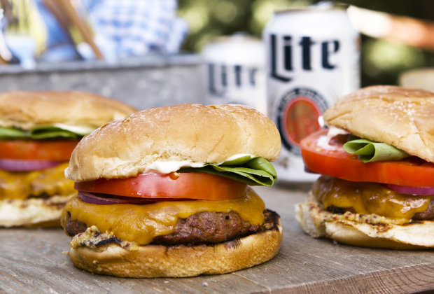 Get Grilling: Miller Lite BBQ Cheeseburgers