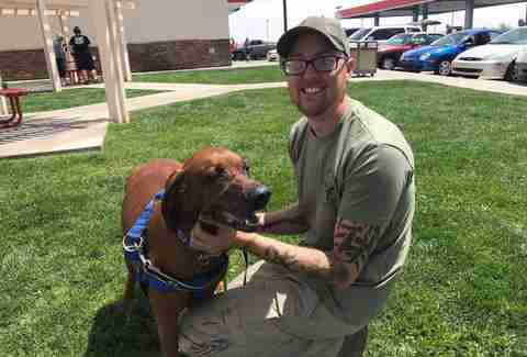 Jake the dog reunites with owner in Phoenix, Arizona