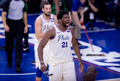 2a3e7882f Joel Embiid Joins Pickup Basketball Game   Bounces Ball of Guy s ...