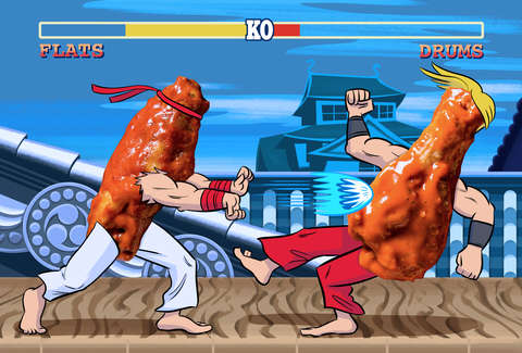 Chicken wing battle royale