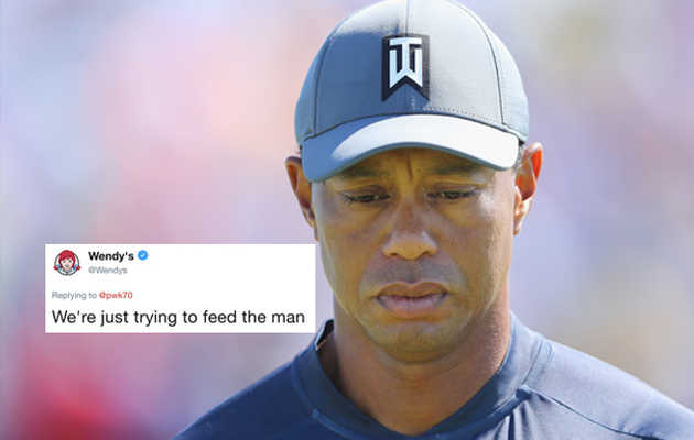 Wendy's Kicked Tiger Woods While He's Down With a Brutal Tweet