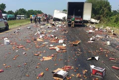 Fireball Whisky Truck Crashes And Spills Booze On Arkansas Highway