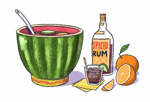 Backyard Party Rules - Watermelon Punch - Supercall - Captain Morgan