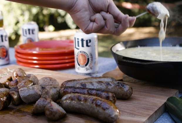 Get Grilling: Beer Brats with Chile Queso
