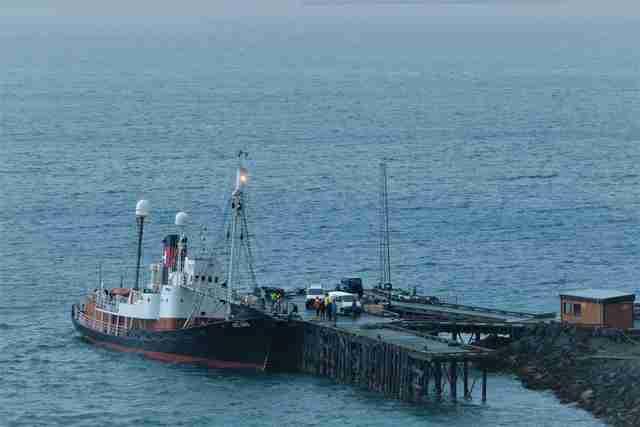 Icelandic whaling ship