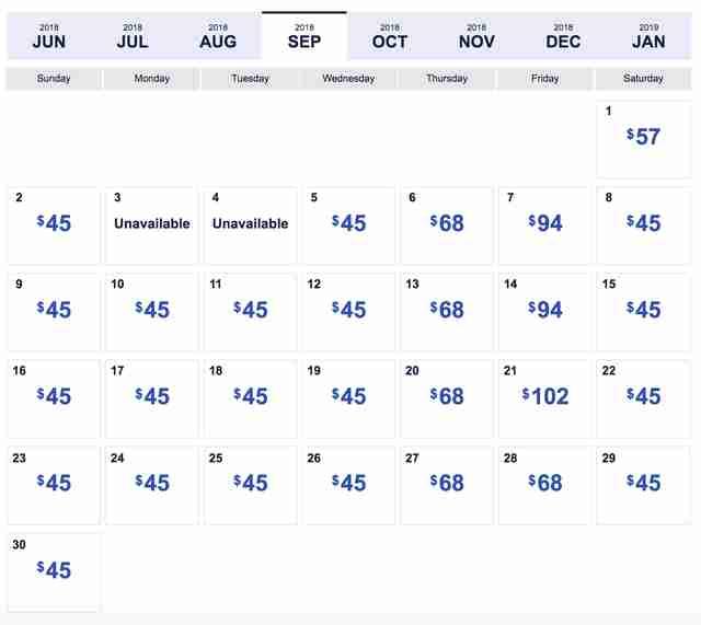 Southwest Low Fare Calendar Four Day Sale Has 45 Flights