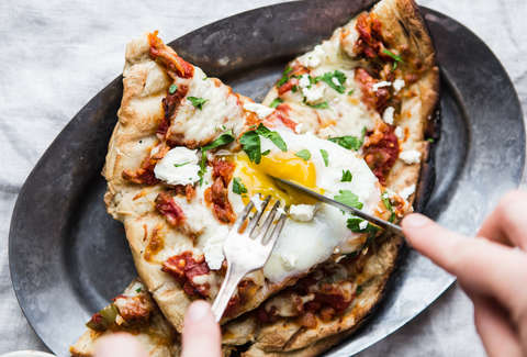 shakshuka grilled pizza