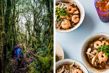 food and hiking