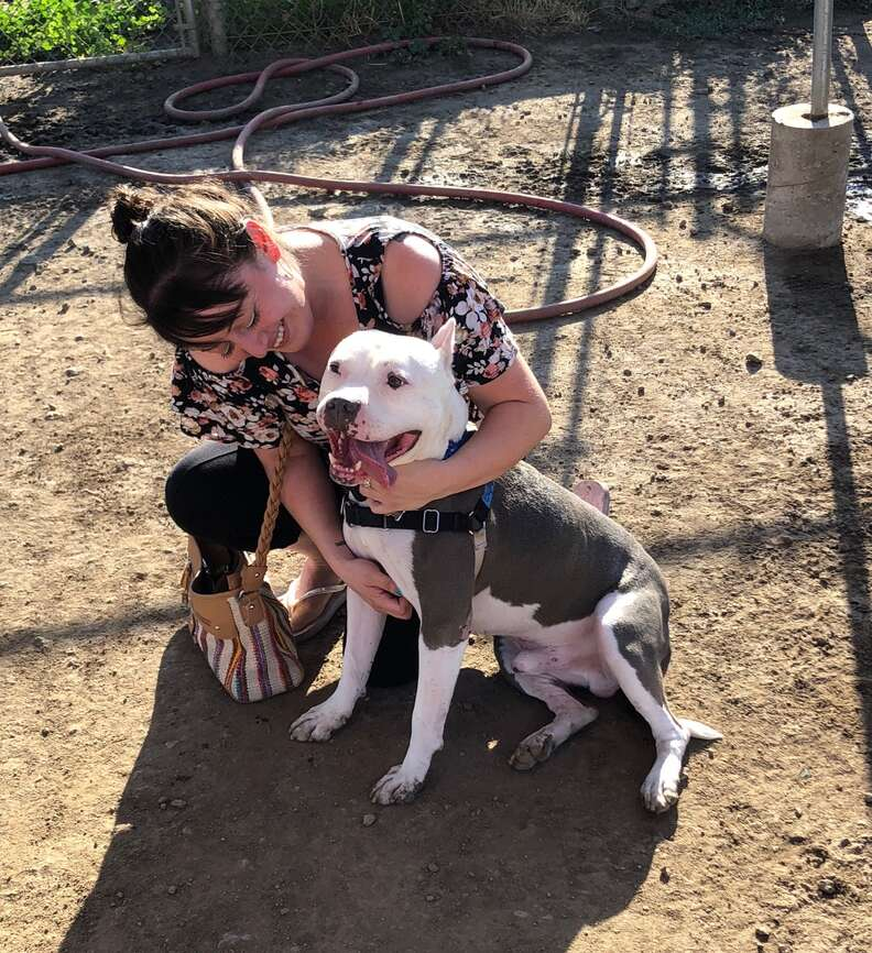 Lucy Fraustro reunited with her lost dog