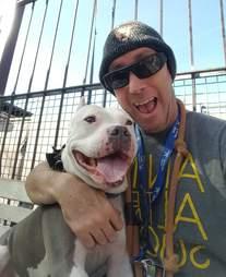 Shelter Volunteer Danny Bress and Dodger