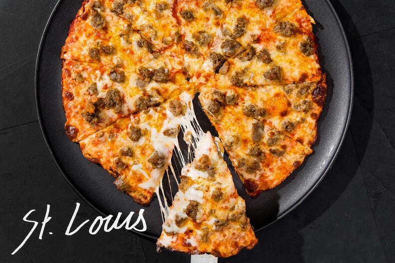 St. Louis pizza slice