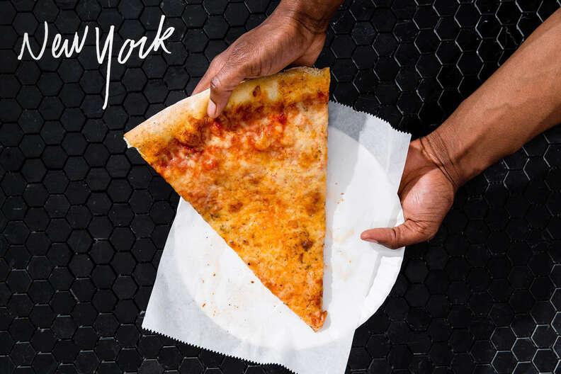 New York slice of pizza