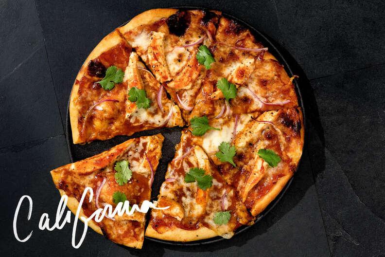 CPK pizza, california pie, buffalo