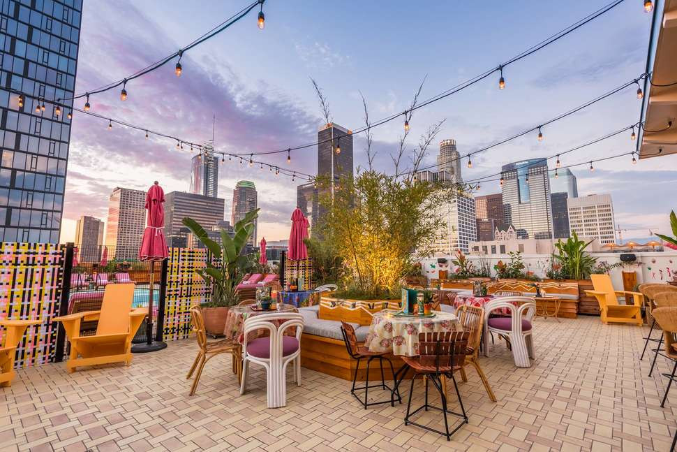 La Rooftop Hangout Spots Broken Shaker At Freehand Los Angeles