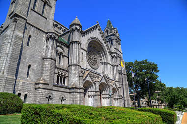 The Cathedral Basilica of Saint Louis on Lindell Boulevard in St. Louis, Missouri