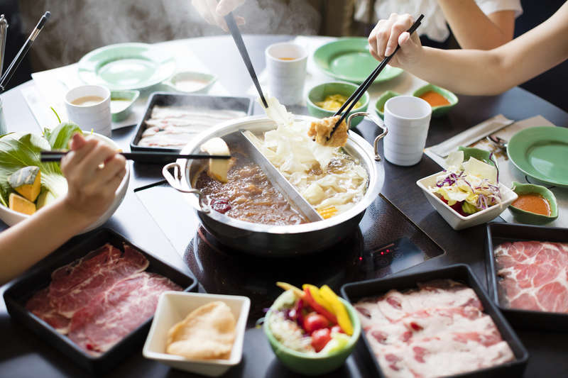 Hotpot family-style meal