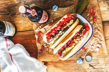 Eggplant hot dogs