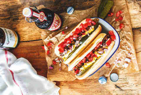 Eggplant hot dogs