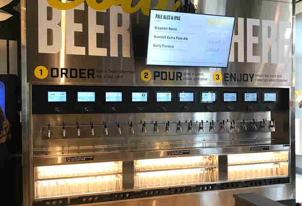 Buffalo Wild Wings' New Concept Features a 20-Tap Self-Serve Beer Wall