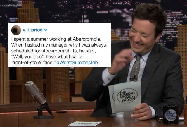 People Shared Their Worst Summer Jobs and Fallon Can't Stop Laughing