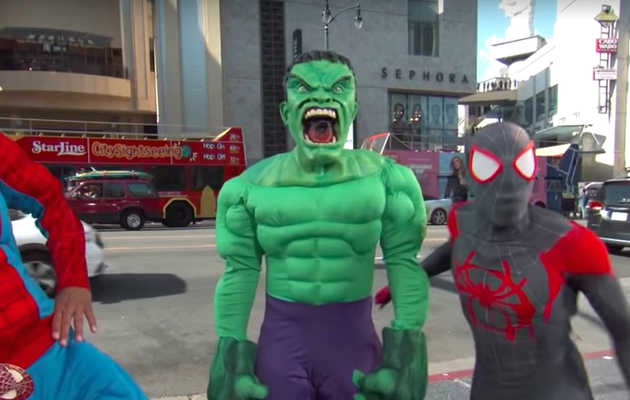 Jimmy Kimmel Finds Jon Stewart Hulking Out at Comic-Con