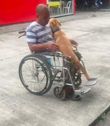 Danilo Alarcon and his faithful dog Digong