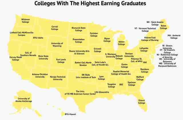 Colleges With the Highest Earning Graduates in Every State Revealed ...