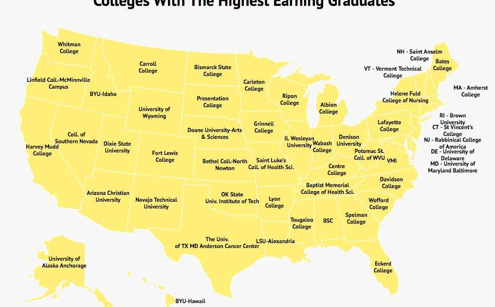 These Are the Colleges With the Highest Earning Graduates in Every State