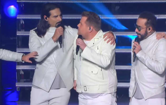 James Corden Showed Up in Las Vegas to Be a Backstreet Boy for a Night