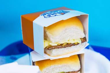 White Castle cheese slider