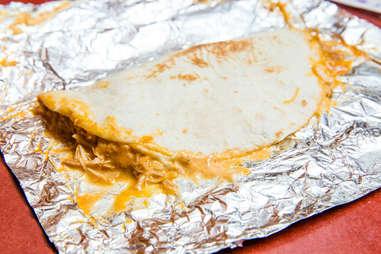 Taco Bell Shredded Chicken Mini Quesadilla