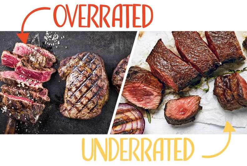 Filet mignon and Denver steaks